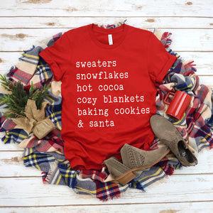 Christmas Tshirt - Red Unisex Tee